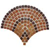 """EliteTile Sierra 0.563"""" x 0.563"""" Glass, Natural Stone and Metal Mosaic Tile in Arch Paprika"""