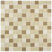"EliteTile Chroma 0.875"" x 0.875"" Glass and Natural Stone MosaicTile in Olea"