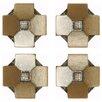 "EliteTile Milton 1.2"" x 1.2"" Medallion Mosaic Pin Insert Wall Tile in Clove Bronze"