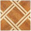 "EliteTile Anchorage 17.75"" x 17.75"" Ceramic Wood Look Tile in Caramelo"