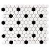 "EliteTile Retro 0.875"" x 0.875"" Porcelain Mosaic Tile in White & Black"