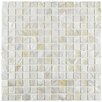 """EliteTile Shore 0.75"""" x 0.75"""" Square Seashell Mosaic Tile in White"""