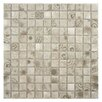 """EliteTile Filigree 0.9"""" x 0.9"""" Porcelain Mosaic Floor and Wall Tile in Gray"""