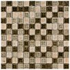 "EliteTile Interval 0.88"" x 0.88"" Ceramic and Glass Mosaic Wall Tile in Beige Mix"