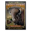 American Expedition Bison Tin Cabin Sign Wall Décor