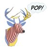 Cardboard Safari Bucky Deer Bust Pop Wall Décor