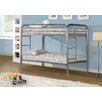 Monarch Specialties Inc. Twin Bunk Bed with Metal Ladders