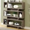 "Monarch Specialties Inc. Reclaimed Look Modern 55"" Standard Bookcase"