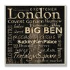 Stupell Industries London Landmarks Typography Square Wall Plaque