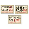 Stupell Industries London Railroad Stop 3 Piece Wall Plaque Set