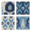 Stupell Industries Alternating Ikat Design 4 Piece Canvas Wall Art Set