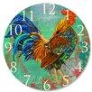 "Stupell Industries 12"" Rainbow Rooster Vanity Clock"