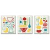 Stupell Industries Sunday Breakfast, Dinner and Picnic 3 Piece Kitchen Wall Plaque Set