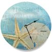 "Stupell Industries 12"" Beach Starfish Light Typography Wall Clock"