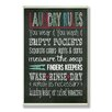 Stupell Industries Laundry Rules Chalkboaord-look Wall Plaque