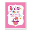 Stupell Industries The Kids Room Brush Your Teeth Rectangle Wall Plaque
