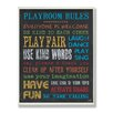 Stupell Industries The Kids Room Chalkboard Rainbow Playroom Rules Wall Plaque