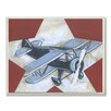 Stupell Industries The Kids Room Plane Star Rectangle Wall Plaque