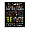 Stupell Industries Personalized Family Rules Rainbow by Janet White Chalkboard Textual Art Plaque