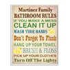 Stupell Industries Personalized Bathroom Rules Rubber Duckies by Janet White Textual Art Plaque