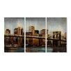 Stupell Industries Lights on Bridge Triptych 3 Piece Wall Plaque Set
