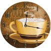 """Stupell Industries 12"""" Frothy Cappuccino Wall Clock"""