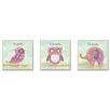 Stupell Industries 3 Piece Bird, Owl, Elephant - Inspire, Dream, Believe Wall Plaque Set