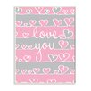 Stupell Industries Love You Pink and Gray Hearts Wall Plaque