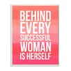 Stupell Industries Behind Every Successful Woman Boutique Chic by Lulusimon Studio Textual Art on Plaque
