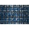 Parvez Taj Crowded Blue Graphic Art on Brushed Aluminum