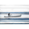 "Parvez Taj Lake & Lodge ""Blue Lake Canoe"" Painting Print"