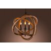 Warehouse of Tiffany Rope Enclosed 3 Light Candle Chandelier