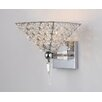 Warehouse of Tiffany Hades 1 Light Crystal Armed Wall Sconce