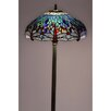 "Warehouse of Tiffany Dragonfly 61"" Floor Lamp"