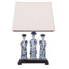 "Winward Designs Oriental Queens Ceramic 21"" H Table Lamp with Rectangular Shade"
