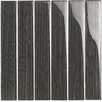 """Epoch Architectural Surfaces Brushstrokes 2"""" x 12"""" Glass Mosaic Tile in Gray"""