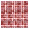 """Epoch Architectural Surfaces Iridescentz 1"""" x 1"""" Glass Mosaic Tile in Red"""