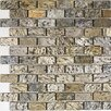"""Epoch Architectural Surfaces 1"""" x 2"""" Slate Mosaic Tile in Gold Green"""