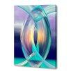 Menaul Fine Art 'Aqua Rings' by Scott J. Menaul Graphic Art on Wrapped Canvas