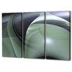Menaul Fine Art 'Olive Swirls Triptych' by Scott J. Menaul 3 Piece Graphic Art on Wrapped Canvas Set