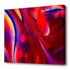 Menaul Fine Art 'Red Swirls' by Scott J. Menaul Graphic Art on Wrapped Canvas