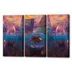 Menaul Fine Art 'Purple Triptych' by Scott J. Menaul 3 Piece Graphic Art on Wrapped Canvas Set