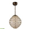 Elk Lighting Crystal Sphere 1 Light Globe Pendant