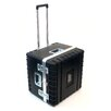Platt Heavy-Duty ATA Case with Wheels and Telescoping Handle in Black: 21.13 x 21 x 17.25