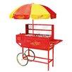 Nostalgia Electrics Vintage Carnival Hot Dog Cart with Umbrella