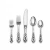 Wallace Sterling Silver Rose Point 66 Piece Dinner Flatware Set
