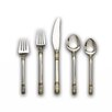 Wallace Sterling Silver Aegean Weave Gold Accent 46 Piece Flatware Set