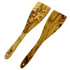 French Home 13-inch Olive Wood Spatula Set