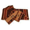 HiEnd Accents Pine Cone Stripe 3 Piece Towel Set