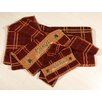 HiEnd Accents Lodge Embroidered Plaid 3 Piece Towel Set